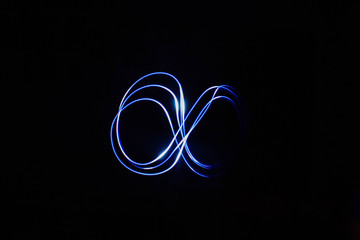 Infinity sign painted with light