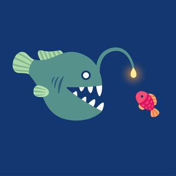 angler fish illustration