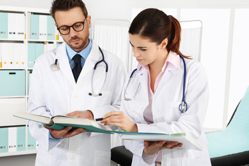 Doctors with medical documents, concept of  consulting