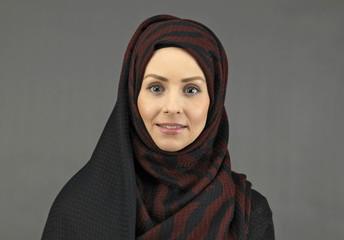 beautiful young muslim women with scarf