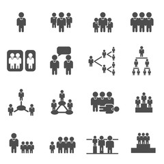 group business man concept icon vector