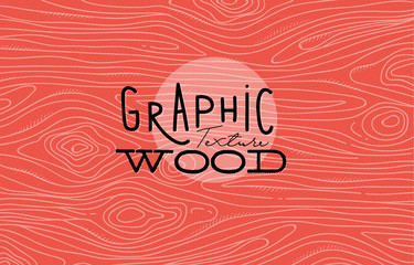 Graphic wood texture coral