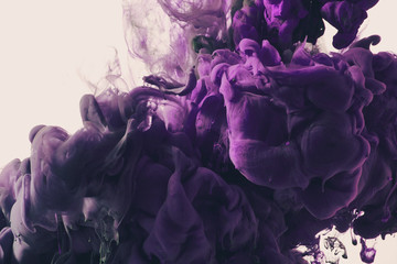 Splash of purple paint
