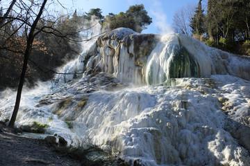 "Thermal springs ""Bagni San Filippo"", near Amiata mountain in Tus"
