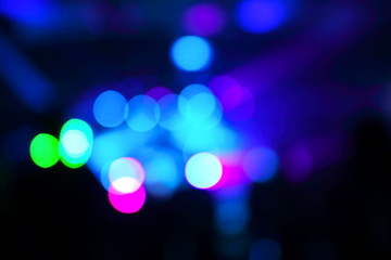 Defocused concert lights