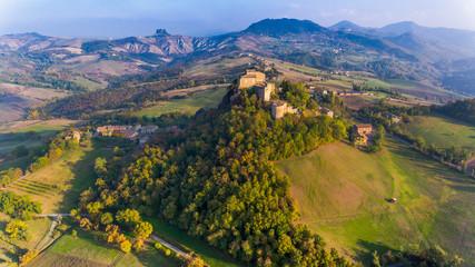 Castello di Rossena, foto aerea