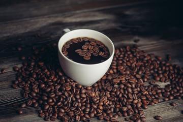 light cup, coffee, drink, grains