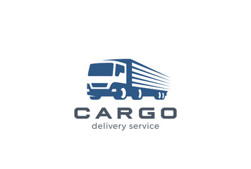 Truck Delivery Cargo Logo. Auto car vehicle Negative space icon