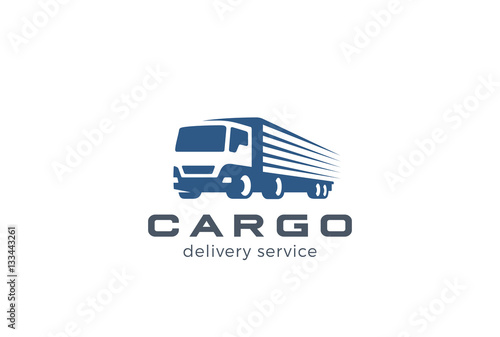 eaf2a4722d Truck Delivery Cargo Logo. Auto car vehicle Negative space icon ...
