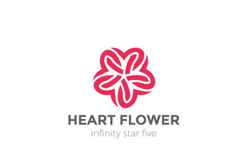 Heart Star Logo design. Valentine day love. Cardiology Medical