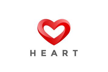 Heart Logo design vector. Valentine day love. Cardiology Medical