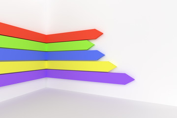 3d rendering of colorful bar chart