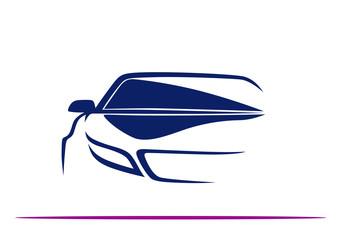 Lacivert Otomobil (Ön profil)