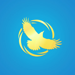 Logo of Crow in Golden Color