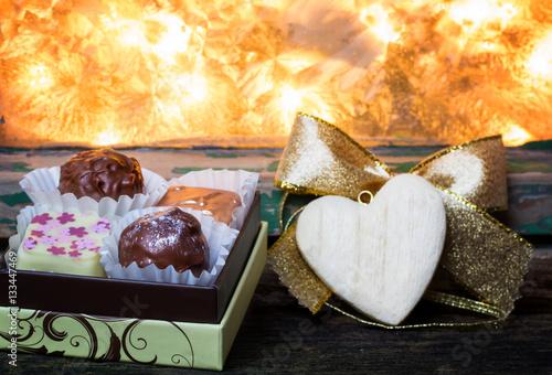 Konfekt Pralinen Zum Valentinstag Stockfotos Und Lizenzfreie