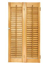 Louvre wood shutter. isolated.