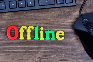 Offline word on table