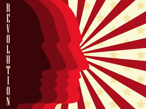 Revolution poster. Vector illustration.