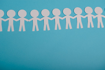 abstract paper people holding for hands
