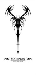 Scorpion. Stylized scorpion, symbolizing power, dignity, etc.Suitable for team Mascot ,community identity, product identity, corporate identity, illustration for apparel,clothing, etc