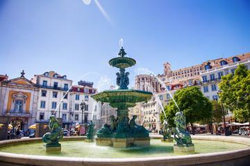 Foto op Plexiglas Fontaine Fontaine de la place