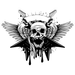 guitars wings skull_var 2