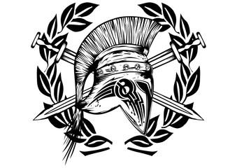 Legionnaires helmet crossed swords