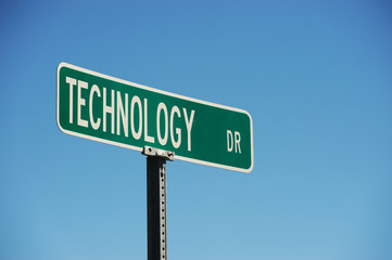 theme street sign technology drive
