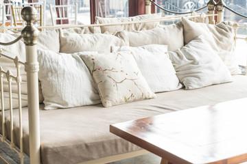 beautiful pillow on sofa