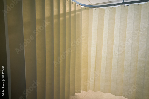 Hanging Dividing Curtain In A Hospital Ward Folding Room Divider Privacy With Multiple