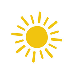 painted yellow Sun icon