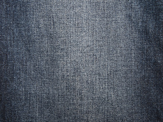 Natural blue denim jeans texture background with empty space