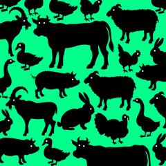 cow, animal, vector, farm, pig, duck, goat