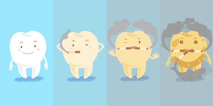 tooth smoking before and after