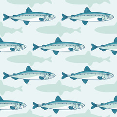 Sea collection seamless pattern