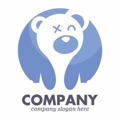 Teddy Bear logo icon vector template