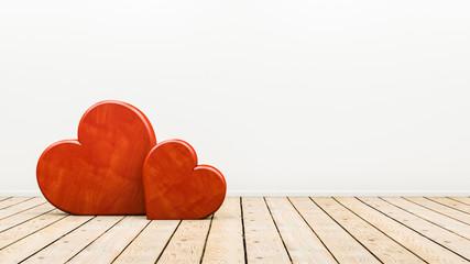 schönes Design Motiv zur Hochzeit oder Jahrestag mit zwei Herzen