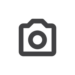 Camera thick line icon, outline vector sign, linear simple pictogram isolated on white. Symbol, logo illustration