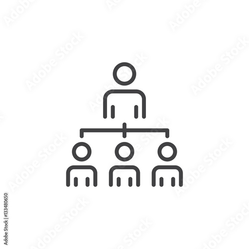 quotorganizational structure of the company line icon