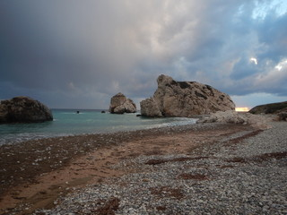 petra tou romiou, legendary birthplace of godess aphrodite in cyprus