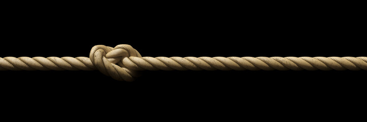 rope with knot background banner