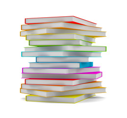 Books stack - isolated on white background
