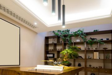 modern study interior