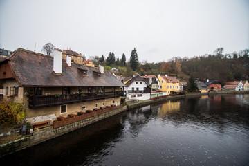 Cesky Krumlov, Czech Republic in autumn - like a point of turistic destination