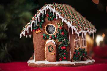 Wall Murals Christmas Christmas gingerbread house