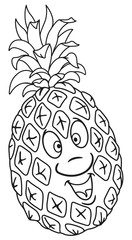 Fresh pineapple cartoon
