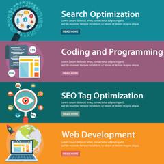SEO and Development concept, web programming