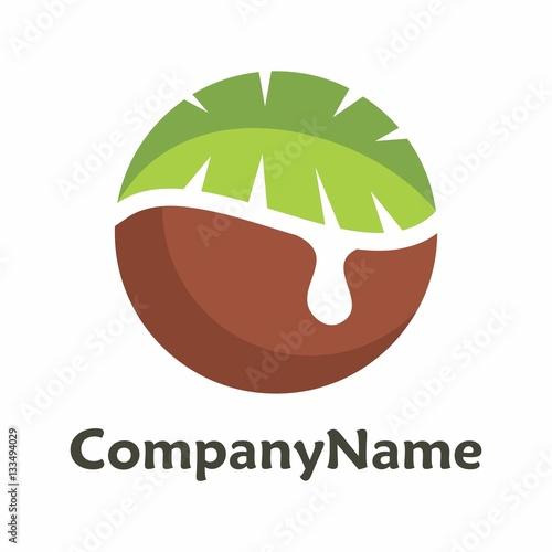 Coconut logo vector
