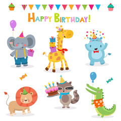 Collection of Cute Birthday Animals