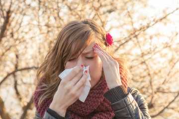 Seasonal allergies and health problems.